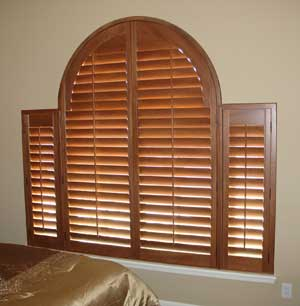 Custom Horizontal Louvered Arch Shutter